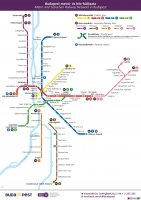 New Budapest city transport map 2014