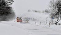 Венгрию завалило снегом
