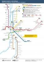 Новая схема метро Будапешта и пригородных сетей 2018